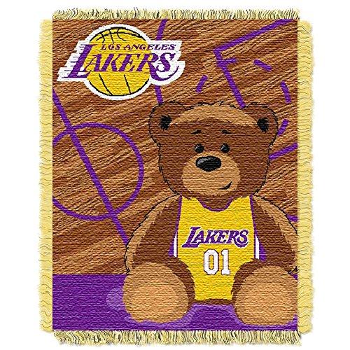 The Northwest Company Los Angeles LA Lakers Baby Blanket Bedding Throw 36 x 46