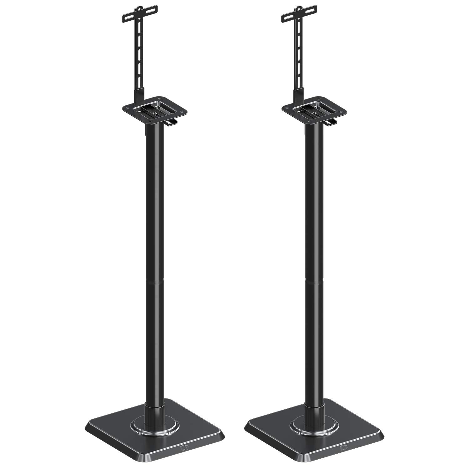 Mounting Dream Speaker Stand Speaker Floor Stand Sound Stand Mount Built-in Cable Management Universal, 11LBS Capacity Per Stand with Adjustable Post Assembly for Surround Sound (2 Set)