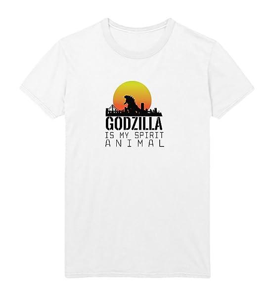 Godzilla Is My Spirit Animal Tshirt Christmas Tshirt T