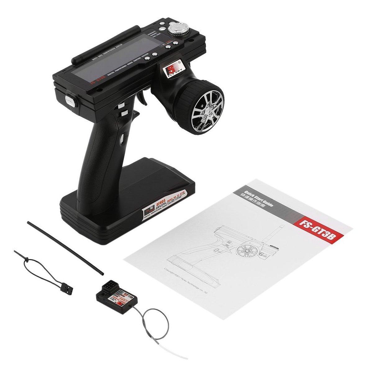 FS-GT3B 2.4G 3CH RC Stiefel Steuerpistole Sender / w TX Empfänger Für Die Meisten die Radio Control Modelle Hohe empfänger Empfindlichkeit