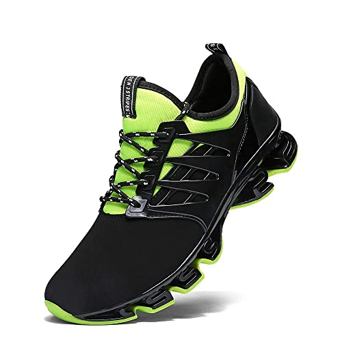 2f8ee8c145d2b Image Unavailable. Image not available for. Color  Ahico Mens Running Shoes  Womens Fashion Casual Sneakers Breathable Mesh Slip on Blade Athletic Tennis  ...