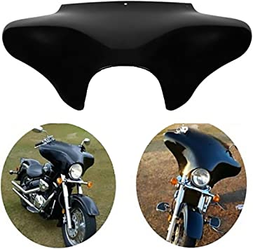 XFMT Gloss Black Motorcycles Front Outer Batwing Fairing ABS For Harley Softail Road King Dyna Honda Valkyrie GL1500C 1997 1998 1999 2000 2001 2002 2003 Yamaha V Star 1100 650 Classic