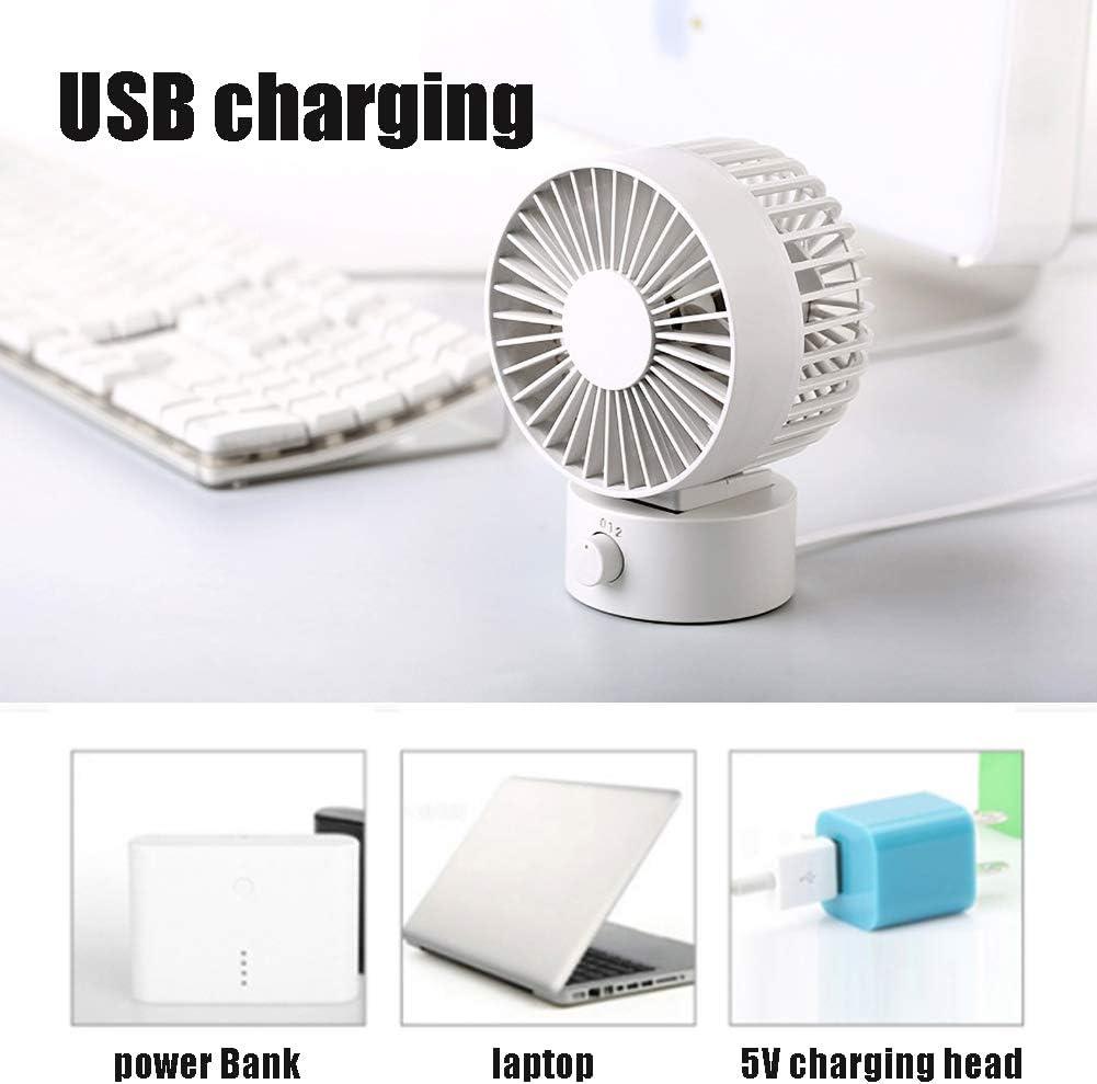 GLXQIJ Mini Handheld USB Fan,Portable Desk Fan,2 Speeds Operation,Green