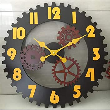 WANGPENG Relojes de Pared Reloj de Pared Simple Moda Dormitorio Salón Mute Reloj de Cuarzo DE 12 Pulgadas Oficina Reloj de Bolsillo Estilo Clásico (Color ...