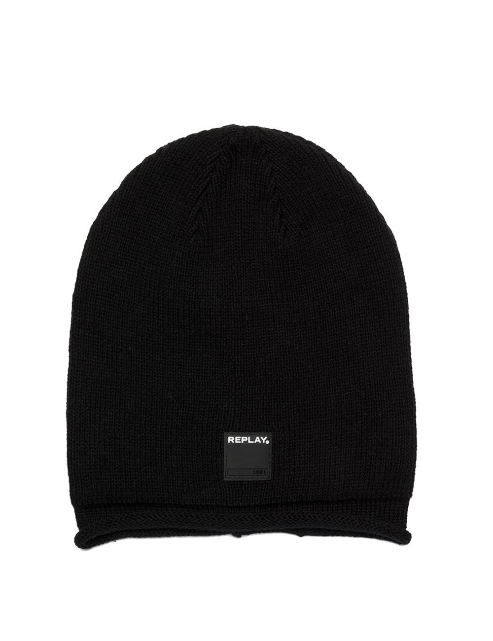 Replay Men's Men's Cotton Beanie In Black Black