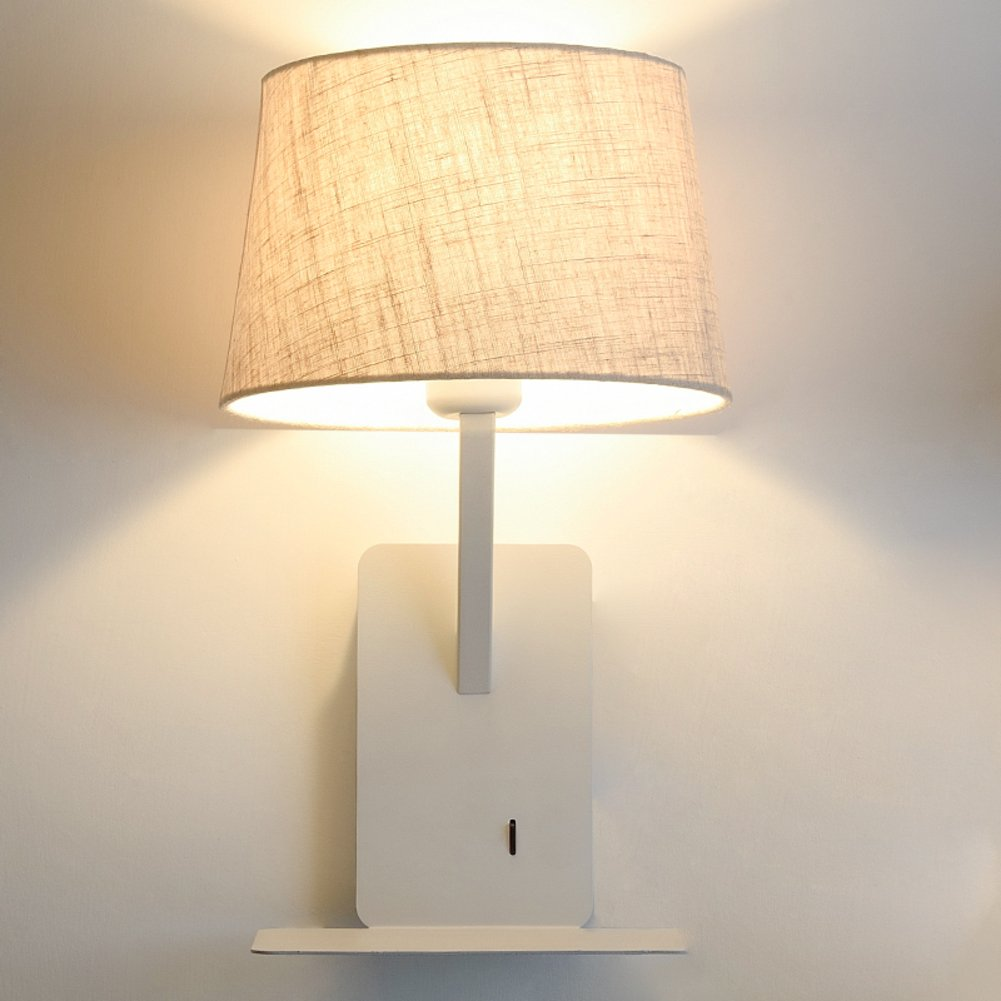 benvenuto a comprare Nclon Creativo Luce di di di lettura sul comodino Led Moderno semplice Alberghi Camera da letto Soggiorno Mensola Interruttore Usb Lampade da parete-E 13x9cm(5x4inch)  outlet online economico