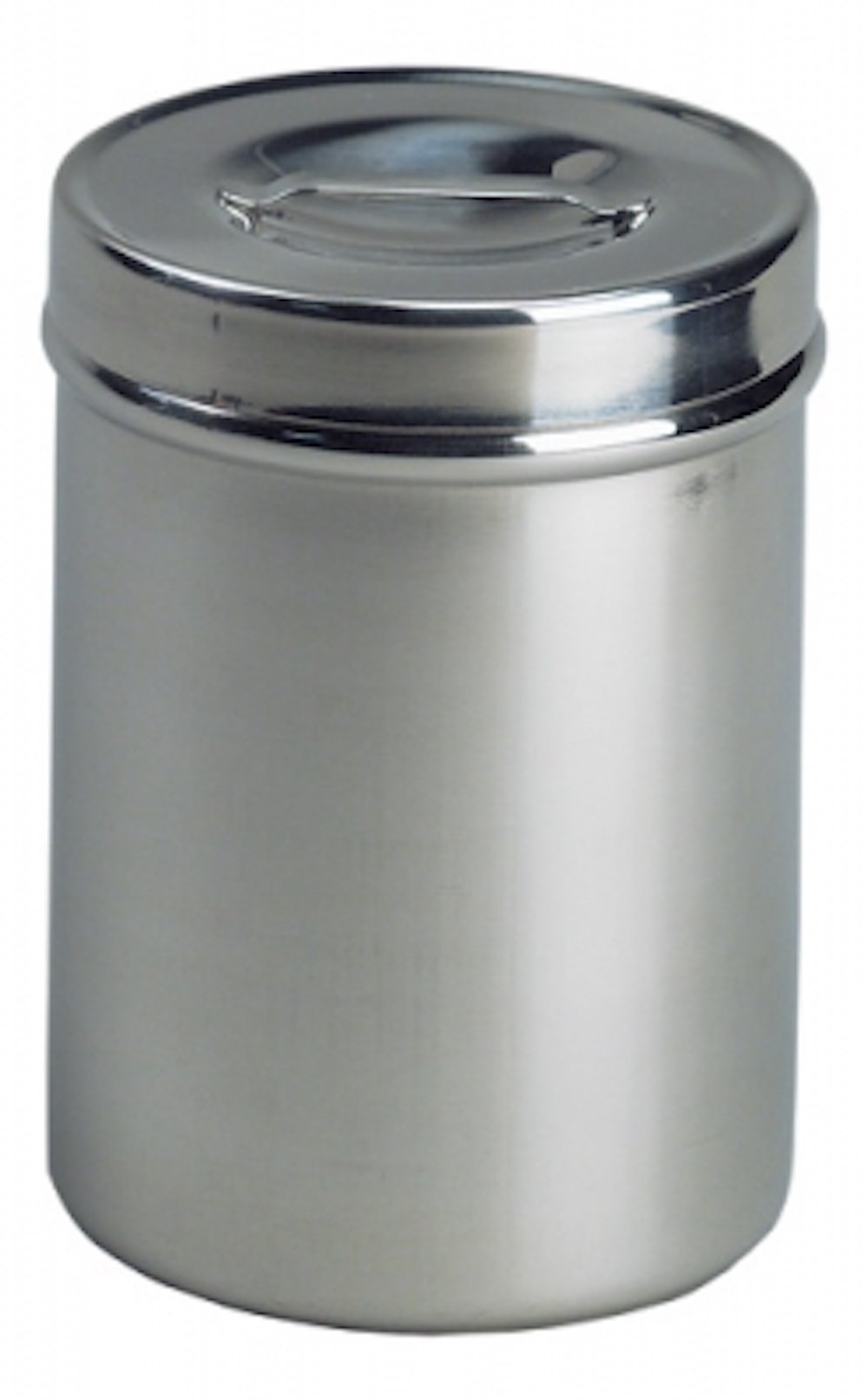Pivit Antibacterial S.S Medical Dressing Storage Sundry Jar | 0.5 Qt | 4 1/8'' x 2 ½'' | Highest Grade (18/8) German Stainless Steel | Prevents Bacteria Growth | Slip Over Lid with Recessed Handle