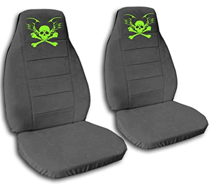 Super Amazon Com Charcoal Seat Covers With A Skull For A 2004 Uwap Interior Chair Design Uwaporg