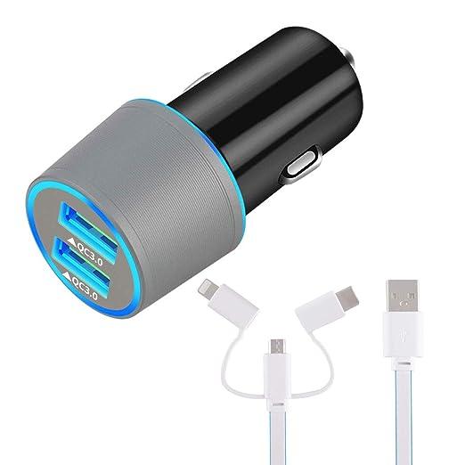 ZDZHU Cargador USB rápido para Auto, para Samsung Galaxy S10 ...