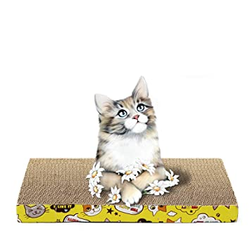 POPETPOP Placas de Zapata de Gato Juguetes Papel Ondulado Scrath Tipo Plana Juguetes: Amazon.es: Productos para mascotas