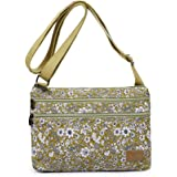 Lightweight Small Purse Canvas Crossbody Bags Multi Pocket Travel Shoulder Handbag for Women