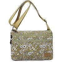 Lightweight Small Purse Canvas Crossbody Bags Multi Pocket Travel Shoulder Handbag for Women