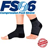 Orthosleeve® FS6 Foot Sleeve | Exclusive 6 Zone Compression Technology® | Plantar Fasciitis, Heel Pain & Swelling Relief | 1 Pair | 30 Day Guarantee | 24/7 Comfort