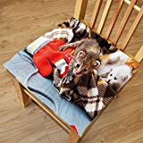Nalahome Set of 2 Waterproof Cozy Seat Protector Cushion Cats Kittens and Mittens Newborns Baby Animals in an Plain Blanket Wood Play Toys Adorable Multicolor Printing Size 22x22inch
