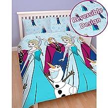 Disney Frozen Lights Double/US Full Rotary Duvet Set + FREE Small Foil Stickers