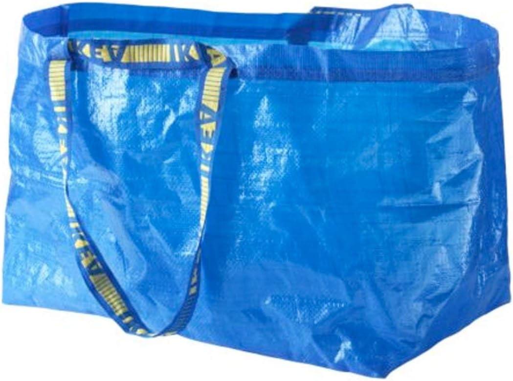 Ikea Frakta Bolsa grande azul ideal para compras, lavandería y almacenamiento.