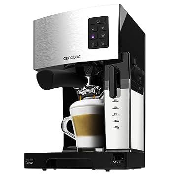 Cecotec Power Instant-ccino Cafetera Express Semiautomática, Tanque de Leche, Cappuccino en un Solo Paso, 20 Bares de Presión y Sistema Thermoblock, ...