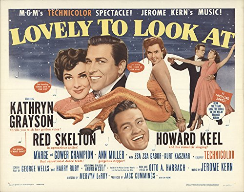 Lovely To Look At 1962 Authentic 22 X 28 Original Movie Poster