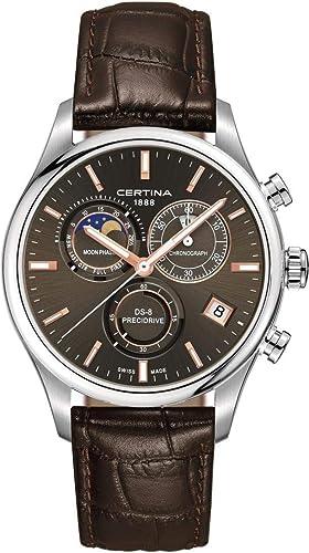Certina DS-8 Moon Phase C033.450.16.081.00 Cronógrafo para hombres Indicador de la fase lunar: Amazon.es: Relojes