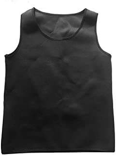 Delicacydex Uomo Body Shaped Vest Body Shaper Tuning Pancia Vita Trainer Corsetto Top Confortevole Biancheria Intima Vestiti Shapewear - all Black 2XL