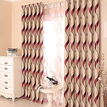 Amazon.de: 2er-Set Moderne Vorhänge, gestreiften Luxus Wohnzimmer ...