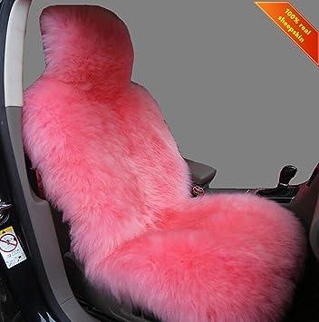 1pc Dark Gray OxGord Sheepskin Seat Covers for Auto Car Tuck Van