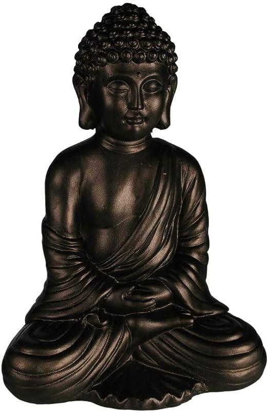 Buda sentado grande [en poliresina] 40 cm: Amazon.es: Jardín