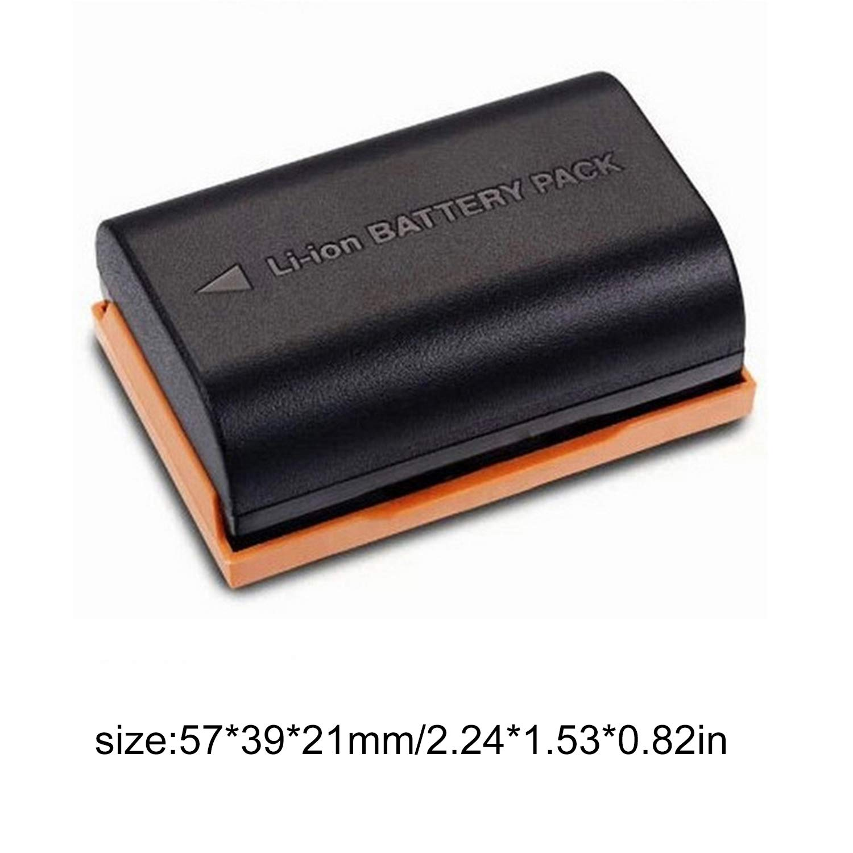 LP-E6 7.4V 2650mAh batteria al litio di grande capacità per Canon 6D 80D (Colore: nero) FairytaleMM
