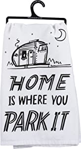 "Primitives by Kathy LOL Dish Towel, 28"" Square, Home is Where You Park It"