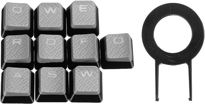 DyNamic 10 Key Retroiluminado Translúcido Tecla Claves para ...