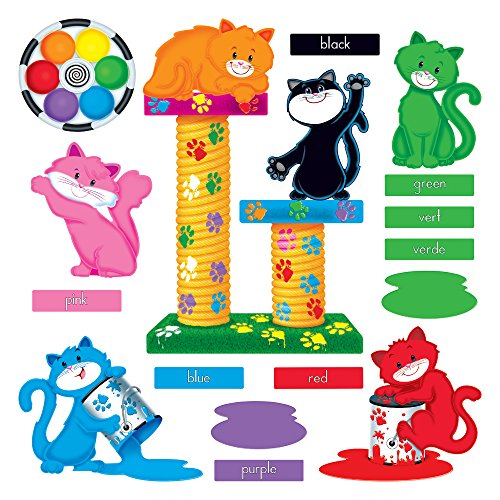 Trend Enterprises Inc. Curious Color Cats Bulletin Board Set