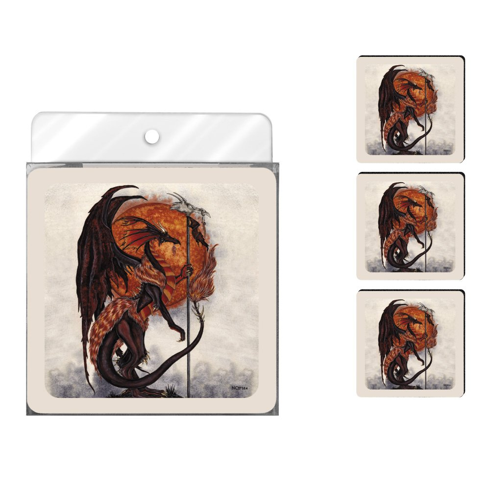 Dragon Lord Tree Free Tree-Free Greetings NC37584 Amy Brown Fantasy 4-Pack Artful Coaster Set