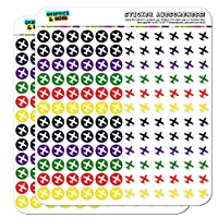 Airplane Flying Travel Dots Planner Calendar Scrapbooking Crafting Stickers