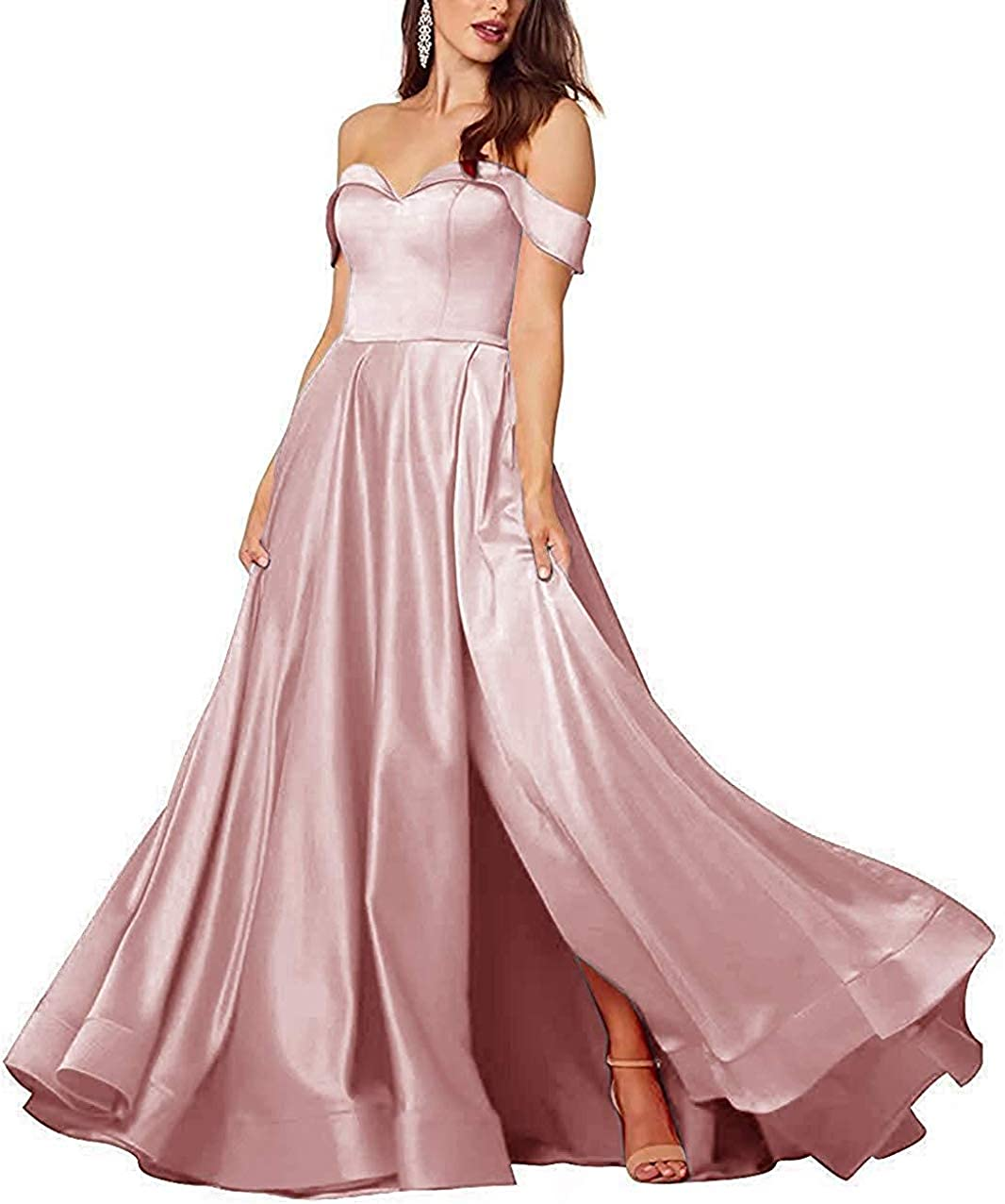 XSWPL Womens s High Low Wedding Dresses For Brides Formal Wedding Party Gowns