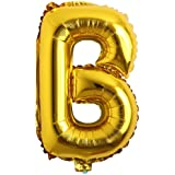 32 inch Letter Balloons Gold Alphabet Number Balloons Foil Mylar Party Wedding Bachelorette Birthday Bridal Shower…