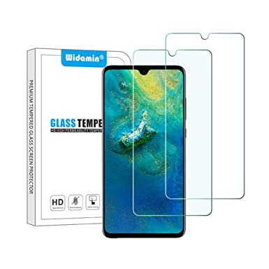 2Pack, Screen Protector Compatible with Huawei Mate 20 6 5 inch, Premium  Tempered Glass with 9H Hardness, 2 5D Round Edge, [Crystal Clearity],
