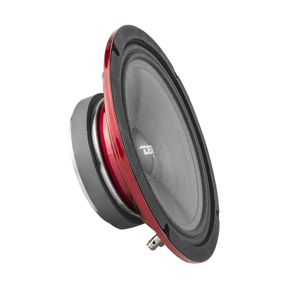 DS18 PRO-SM8.2 8'' Slim Loudspeaker - 8'', Midrange, Red Steel Basket, 500W Max Power, 250W RMS, 2 Ohms - Premium Quality Audio Speakers - IP66 Water Resistance, Perfect for Motorcycle Applications by DS19