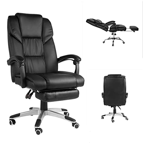 Super Cozime Office Swivel Chair With Tilt Lockable System 1700Adjustable Back Collapsible Peda Computer Desk Executive Chair Theyellowbook Wood Chair Design Ideas Theyellowbookinfo