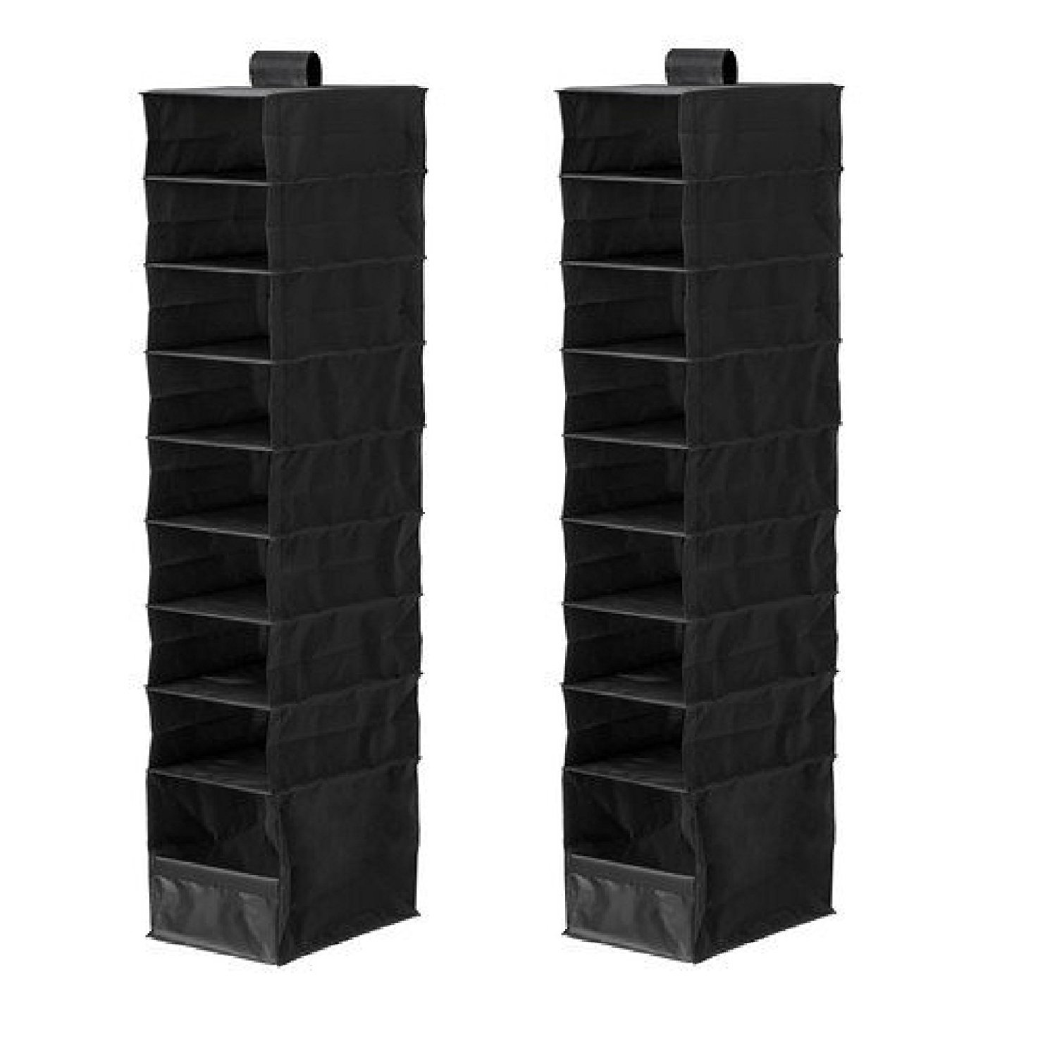 IKEA 603.062.72 SKUBB Hanging Organizer with 9 Compartments, Black Alpine Commerce
