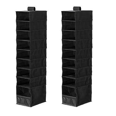 IKEA Organizer Closet Storage Hanging Skubb (2 Pack) Black