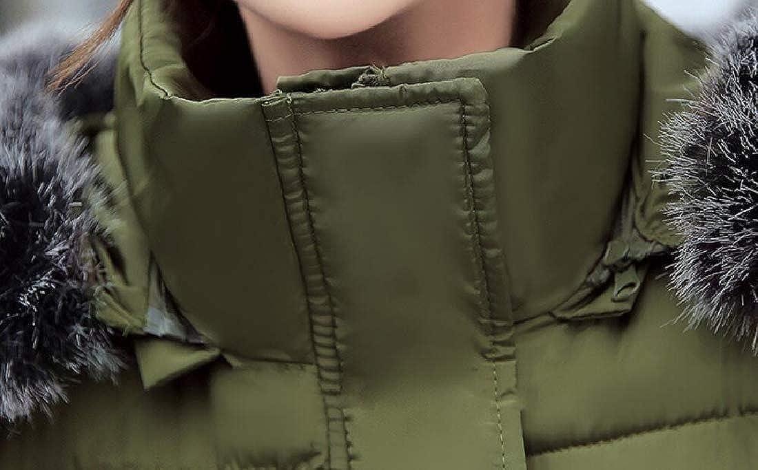 M/&S/&W Womens Winter Warm Faux Fur Hooded Down Coat Parka Outcoat Puffer Jacket
