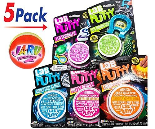 JA-RU Lab Putty Assorted Styles (Pack of 5) People + UV + Magnetic + Heat + Crystal | C1 by JA-RU (Image #8)