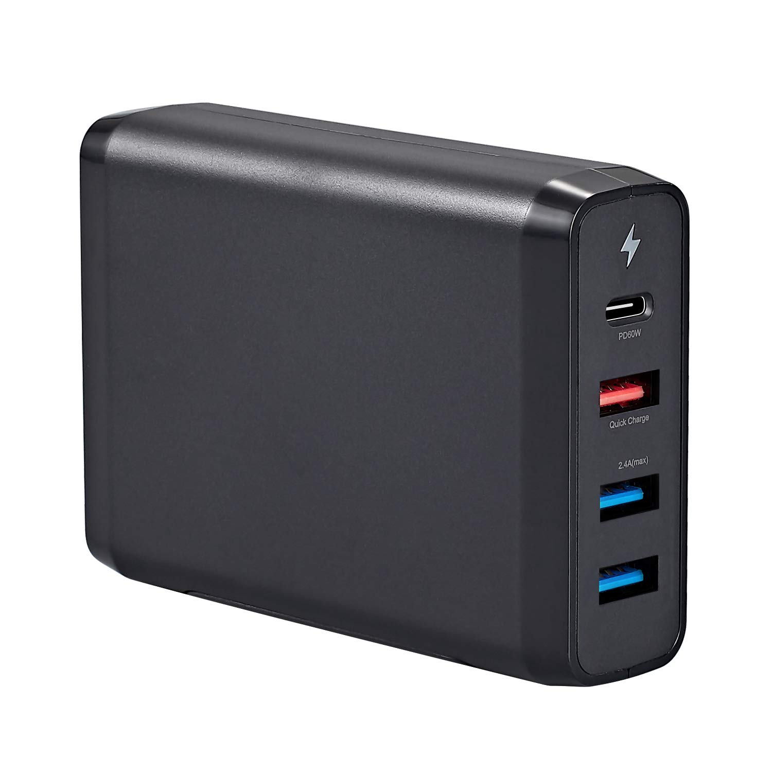 Runpower 75W USB Type C Travel Charger,with USB C PD 3.0 Fast Charge Port,for USB-C Laptops, MacBook, iPad Pro, iPhone, Galaxy, Pixel and More. (Black) by Runpower