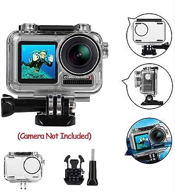 Für DJI Osmo Action Sportkamera 40m wasserdichtes Gehäuse Gehäuse Shell+Adapter