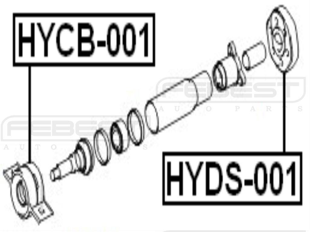 FEBEST HYDS-001 Drive Shaft Coupling Kit