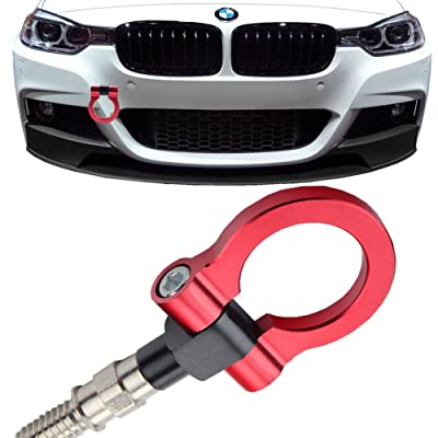 JGR Track Racing Style Tow Hook Towing Eye CNC Aluminum Screw On Car Accessories Front Rear Bumper for BMW 3 Series 318 320 323 325 328 330 335 316 340 F30 F31 F34 GT 2012+ Red: Automotive