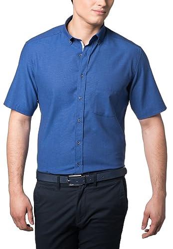 eterna Kurzarm Hemd Modern Fit Leinen Unifarben