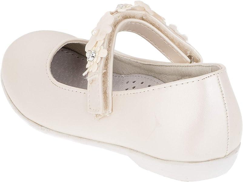 ec7f0ee3802de5 Giardino Doro Edle Festliche Kinder Mädchen Schuhe Ballerinas mit Leder  Innen Sohle M516pews Perlmutt Weiß 28