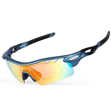 West Biking Radbrille Outdoor Sport Sonnenbirlle 100% UV-Schutz mit 5 Wechselbare Linsen ultraleicht (weiß rot blau schwarz) unisex, weiß