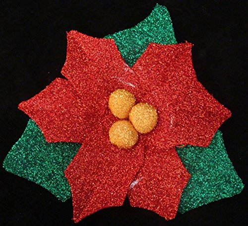 Outdoor Lighted Poinsettias in US - 7